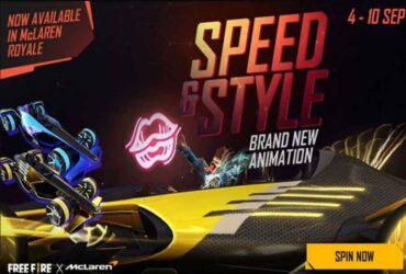 Free Fire McLaren spin etkinliği